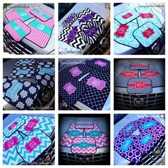 Car Mats, Personalized/Monogram Car www.SassySouthernGals.com, --The black and purple ones!!
