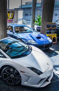 Lamborghini Gallardo and Ferrari 550