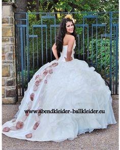 Bemerkenswertes Abend - Ballkleid Brautkleid Online in Weiss