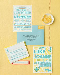 spring/summery invites