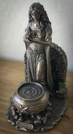 Brigid - Goddess of Hearth and Home Celtic Goddess, Brighid Goddess, Pagan Witch, Witches, Wiccan, Irish Mythology, St Brigid, Triple Goddess, Hearth And Home