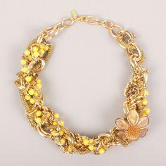 Braid Necklace | Braid Necklace Yellow yellow, gold, jewelry