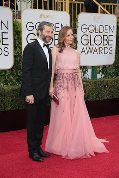Judd Apatow and Leslie Mann at the 2016 Golden Globes