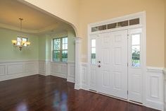 Entrance and formal dining room in the Clark Traditional