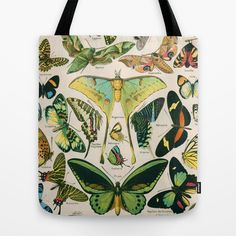 Vintage Butterfly tote