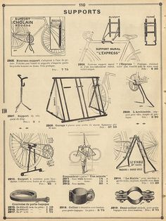 Vintage bicycle parts and storage equipment. Cycling Quotes, Cycling Art, Cycling Bikes, Cycling Equipment, Cycling Jerseys, Vintage Bicycle Parts, Vintage Cycles, Bicycle Art, Bicycle Design
