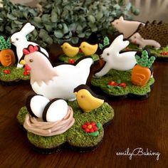 icingcookies#sugarcookies #アイシングクッキー#Spring animals garden