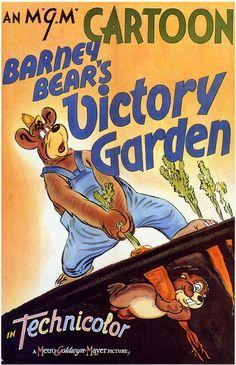 Barney Bearu0027s Victory Garden, Wartime Cartoon In Technicolor!