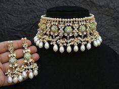 Excited to share this item from my shop: Mint Kundan Choker/ Sabyasachi Choker/ Indian Jewelry/ Indian Choker/ Bollywood Jewelry/ Fine Kundan Necklace/ Kundan Jewelry Indian Jewelry Sets, Indian Wedding Jewelry, Fine Jewelry, Kundan Jewellery Set, Tikka Jewelry, Diamond Jewellery, Simple Jewelry, Gold Jewelry, Jewelry Making
