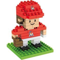 Miami Marlins MLB 3D BRXLZ Construction Puzzle Set Team Player