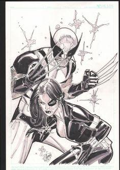 Wolverine & Domino - Ron Garney