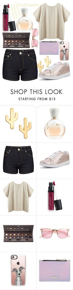 """""""prosto"""" by karilooks ❤ liked on Polyvore featuring CAM, Lacoste, Love Moschino, La Garçonne Moderne, Laura Geller, ZeroUV, Casetify and Skinnydip"""