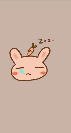 Sleeping bunny. Tap to see 8 Cartoon Sleepy Animals Zzz Wallpapers - @mobile9 #cute #chibi #cartoon