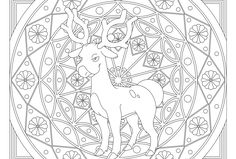 stantler pokemon coloring pages - photo#30