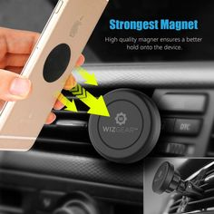 Magnetic Mount, WizGear PACK] Universal Air Vent Magnetic Car Mount Phone Holder, for Cell Phones and Mini Tablets with Fast Swift-Snap Technology, With 4 Metal Plates, Magnetic Phone Holder, Cell Phone Holder, Car Mount Holder, Car Holder, Amazon Buy, Car Phone Mount, Air Vent, Cell Phone Accessories, Traveling By Yourself