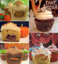 All my favorite Fall and Halloween stuffed cupcake recipes in one place!