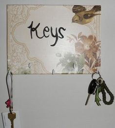 DIY Key Holder : DIY Key Holder Key Rack, Diy Tutorial, Crafty, Cool Stuff, Paint, Wedding, Valentines Day Weddings, Picture Wall, Paintings
