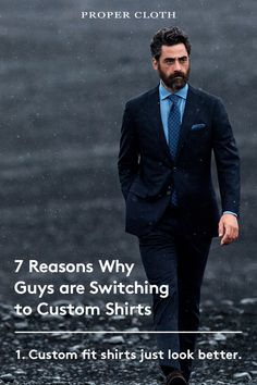 Are you still wearing off-the-rack shirts? Find out why so many guys are switching to custom shirts.