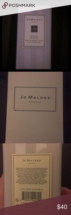 Jo Malone Orange Blossom Lotion 8.5 oz NEW Jo Malone Orange Blossom Hand and Body Lotion 8.5 oz. This is an authentic NIB bottle of Jo Malone Lotion. My grandma loves to give these out to all the ladies in the family, but I have other brands that I'm loyal to. This really is a lovely product though and should be enjoyed!  Jo Malone Box included Jo Malone Other