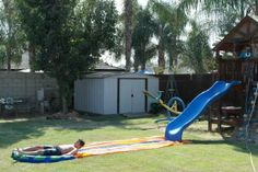 How to Create The Ultimate Backyard Water Park on the Cheap - DaddleDo