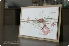 Stampin'Up! light pink&gold