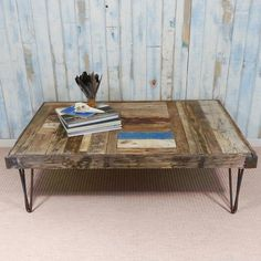 The Whale Wharf Coffee Table is handmade from a patch work of driftwood planks in varying lengths and colours.  A real talking point for any coastal or sea themed room.