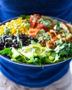 Southwestern Chicken Salad with Creamy Cilantro Dressing