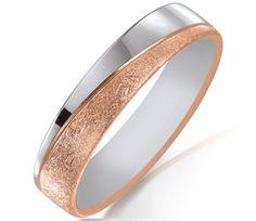 Alliance de mariage en or rose et blanc