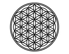 Dibujo de Mandala flor de vida para Colorear