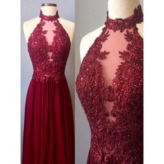 A-line/Princess Evening Dresses, Burgundy A-line/Princess Evening Dresses, A-line/Princess Long Evening Dresses, Burgundy Prom Dresses Sexy Halter Appliques Long Prom Dress/Evening Dress