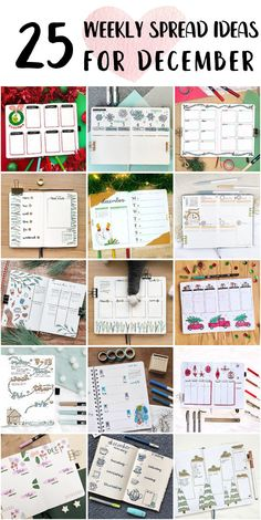 Fun Bullet Journal Weekly Spread Planner For High School Students - Bullet Journal Pictures Bullet Journal Weekly Spread Layout, Dotted Bullet Journal, Shooting Star Wish, Weekly Goals, Happy December, Bubble Letters, Draw On Photos, Holly Leaf, High School Students