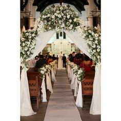 flowers bouquets aisle decor for church wedding, flowers wedding... ❤ liked on Polyvore featuring home, home decor, rustic home accessories, inspirational home decor, rustic home decor and valentines day home decor