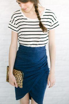 stripes  + tulip skirt