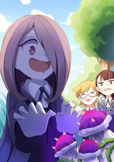 Sucy & her precious mushrooms Little Wich Academia, My Little Witch Academia, Otaku Anime, Anime Art, Magical Girl, Anime Witch, Netflix Anime, Kawaii, Fan Art