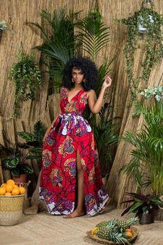 African Print Orane Maxi Dress