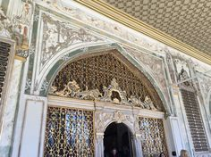 Breathtaking metal work and intricate painting details of an entrance in Top Kapi Saray