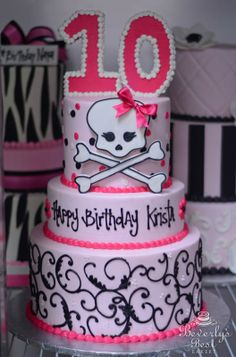 Pink Punk Birthday Cake by Beverly's Bakery