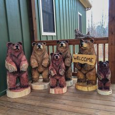 Chainsaw Carved Brown Bear Clan