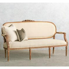 Louis XVI Style Settee in Gold