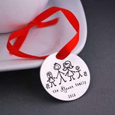 Personalized Christmas Tree Ornament Family by georgiedesigns