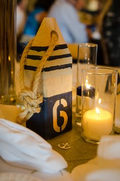 Table numbers, Lobster buoys. $17.00, via Etsy.