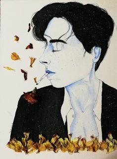 """""""Love is a smoke made with the fume of sighs."""" Art by .Moonset."""