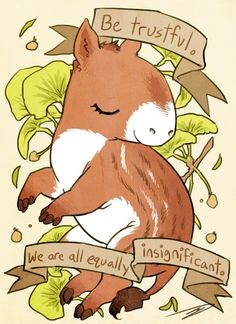 #INPRNT #illustration #print #poster #art Be Trustful Eohippus by reapersun