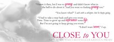 Kristen Proby's Close to You releases August 9th