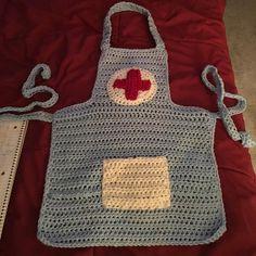 Crochet Doctor/Nurse Apron for Kids...Costume, Dress-Up, Playtime...