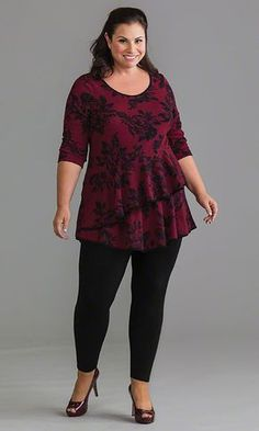 Rose Tunic / MiB Plus Size Fashion for Women / Spring Fashion http://www.makingitbig.com/product/5168