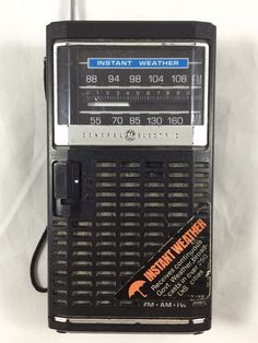 GE 7-2840B AM/FM/Weather Transistor Radio General Electric Tested Vintage