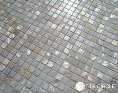 Micro mother of pearl tile by Tile Circle. Suitable for kitchen backsplash tile and bathroom floors, walls and shower tile.  Available online at www.tilecircle.com