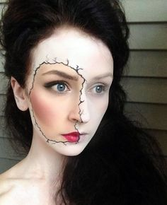 Cracked Porcelain Doll: This cracked porcelain doll is definitely haunting, but also manages to look beautiful at the same time.