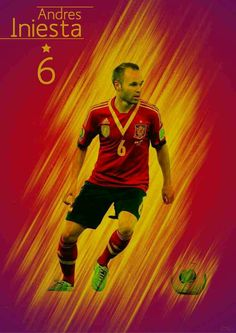 Andreas Iniesta of Spain wallpaper.